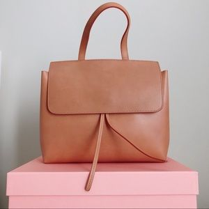 NWT Mansur Gabriel Mini Lady Bag in Cammello Rosa